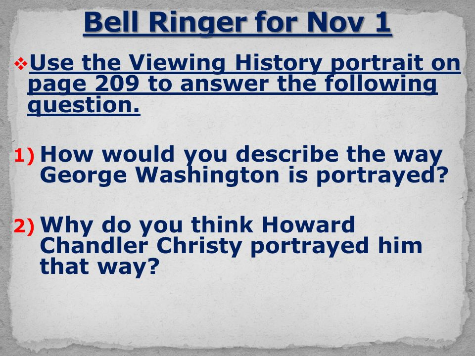  Use the Viewing History portrait on page 209 to answer the following question.