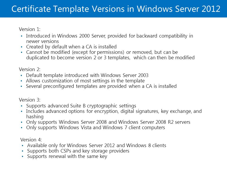 Certificate template default permissions choice image microsoft official course module 8 deploying and managing 5 certificate yadclub choice image yelopaper Choice Image