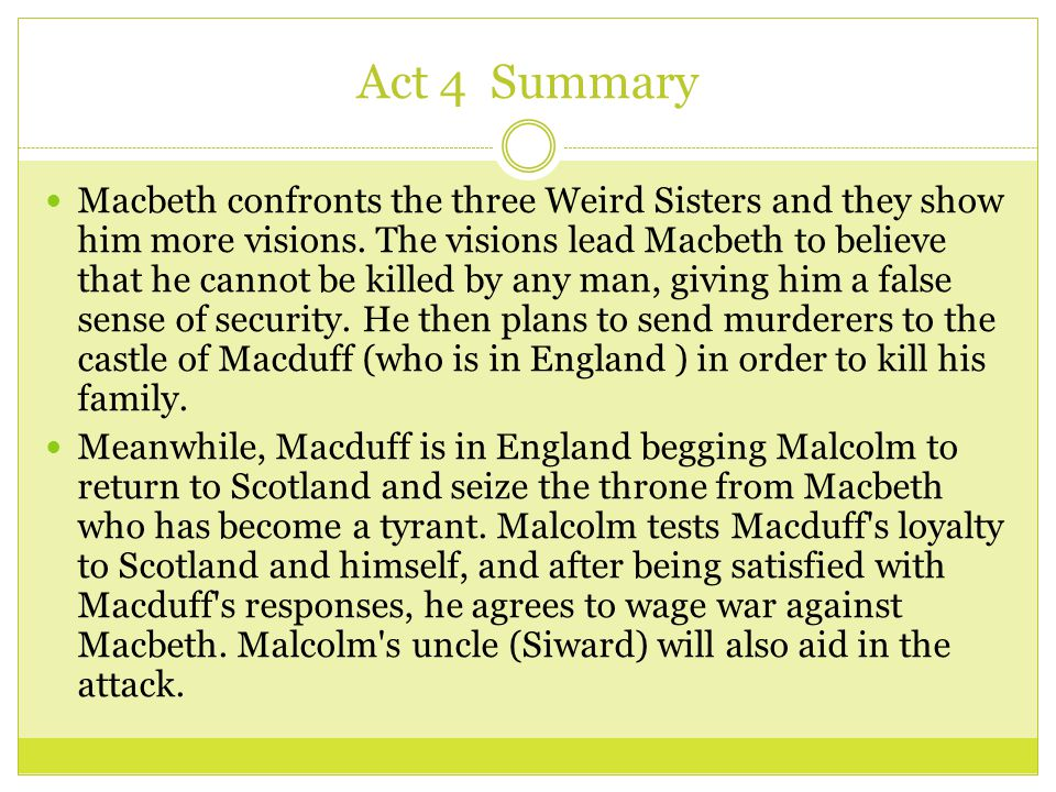 essay summary of macbeth How to write a thesis for an analytical essay on macbeth to do it correctly, the essay writer should sum their idea into one sentence or two the thesis statement should display the paper's topic and show the reader what the article is about and thus aiding in keeping the argument focused and guides the writer.