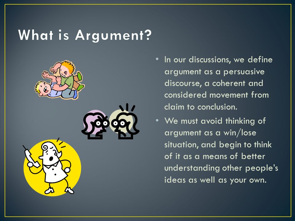 In an argumentative essay, what happens when you are for and against the claim?