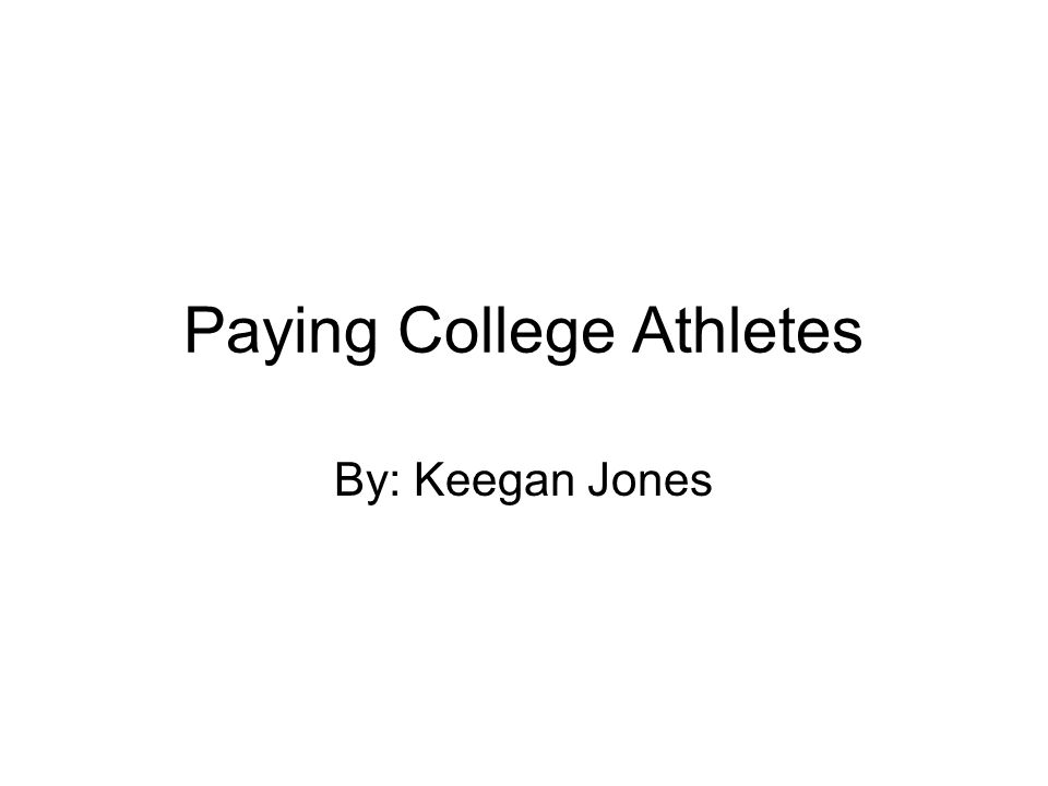 Paying college athletes debate essay