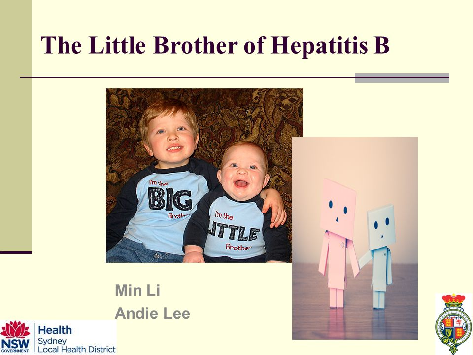 The Little Brother of Hepatitis B Min Li Andie Lee
