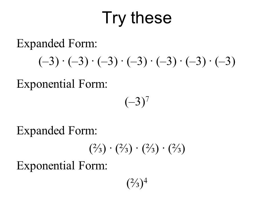 Integer Exponents 8.EE.1. Objective - To solve problems involving ...