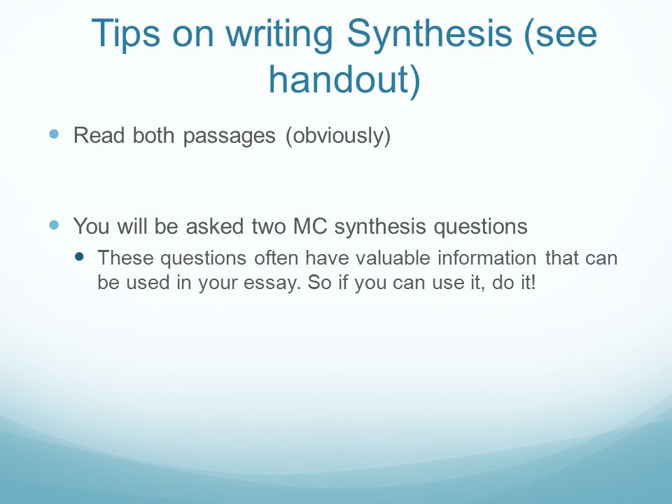 What is a Synthesis????????