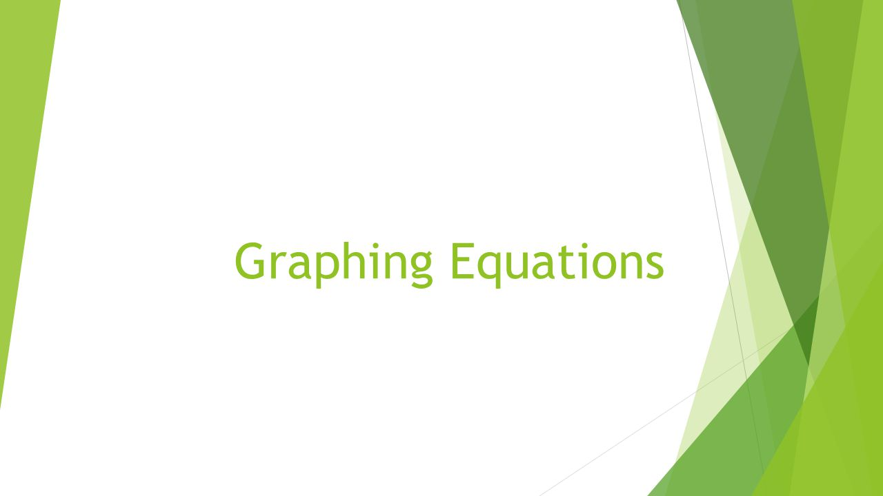 Graphing equations given an equation student will be able to 1 graphing equations falaconquin