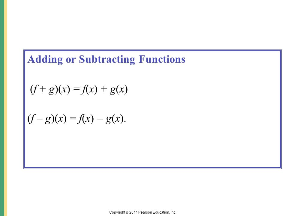 Function Operations Add or subtract functions. 2.Multiply ...