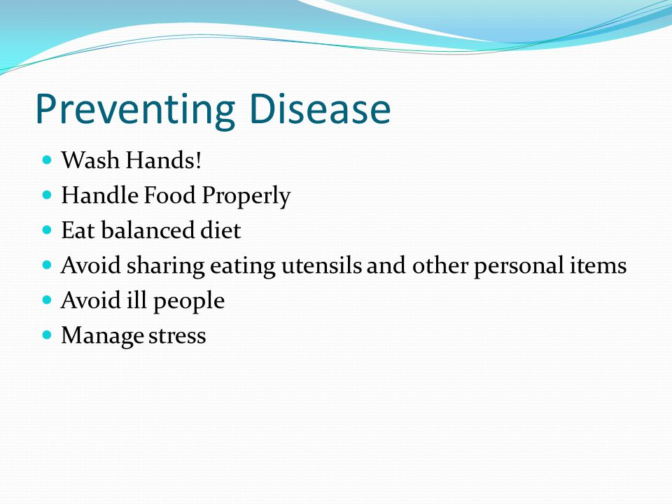 Preventing Disease Wash Hands.