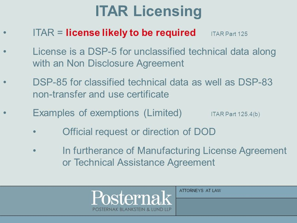 Attorneys at law deemed exports april 27 2011 the new i 129 non 17 attorneys at law itar licensing platinumwayz
