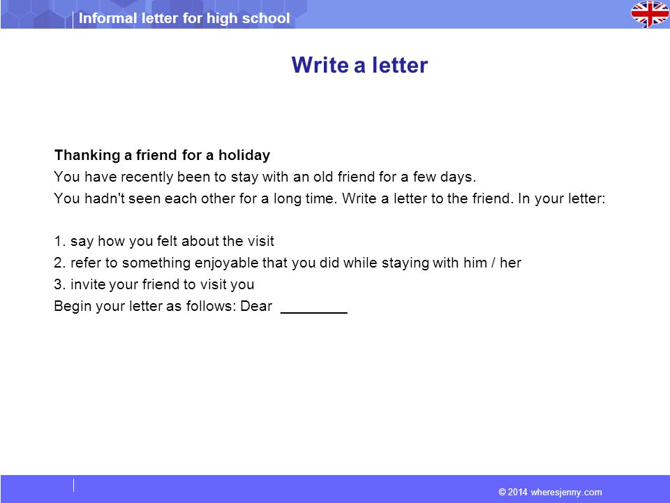 informal letter to invite a friend