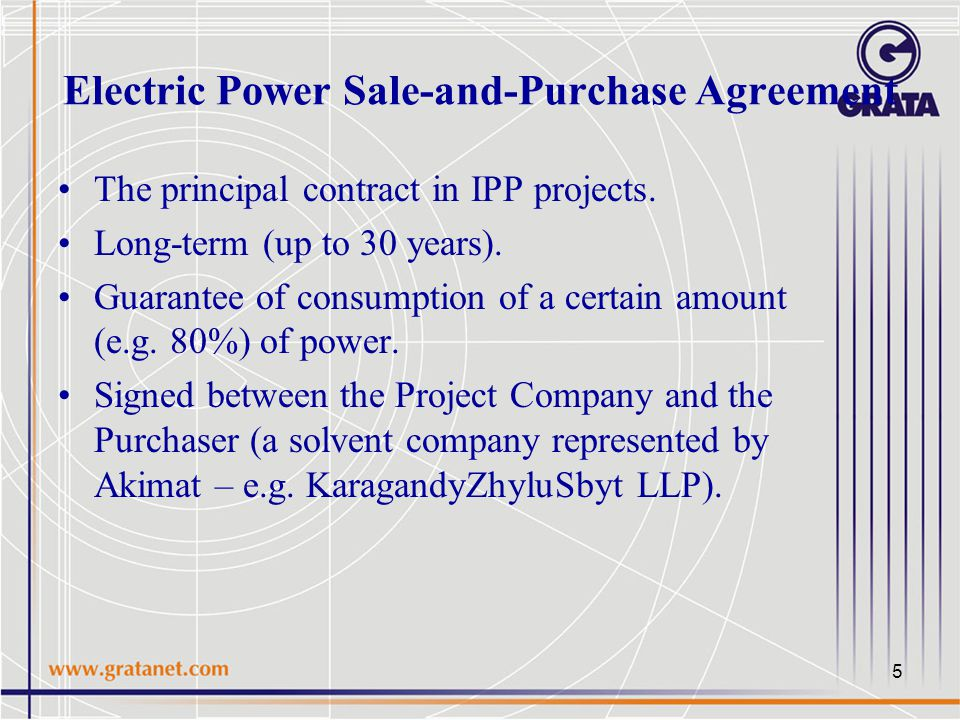 Independent power project ipp as an optimal structure for the 5 electric power sale and purchase agreement the principal contract in ipp projects platinumwayz