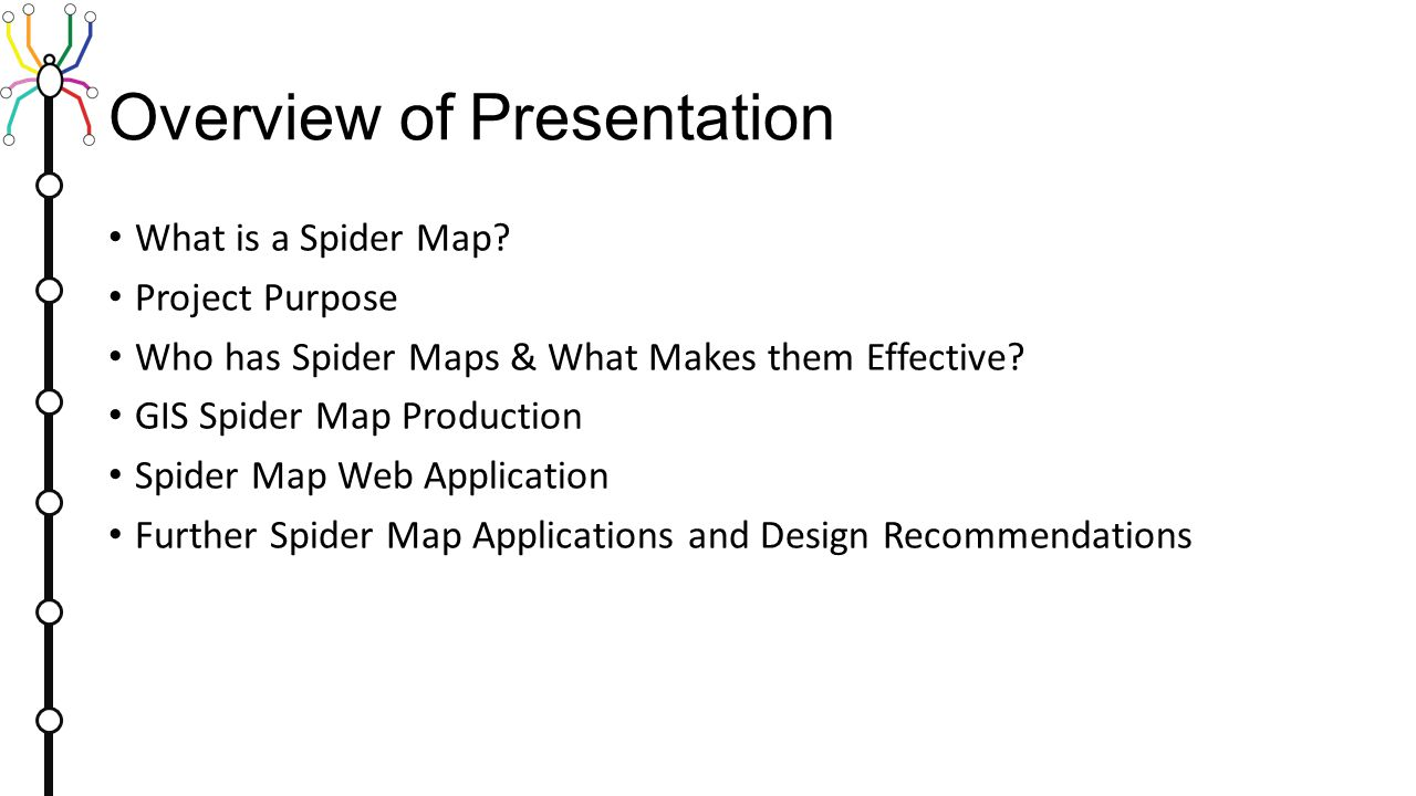spider maps summary of best practices and guide to design 2 overview of presentation what is a