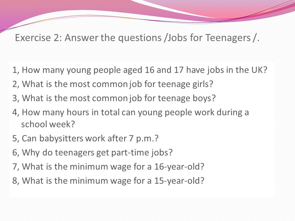 first time jobs for 17 year olds