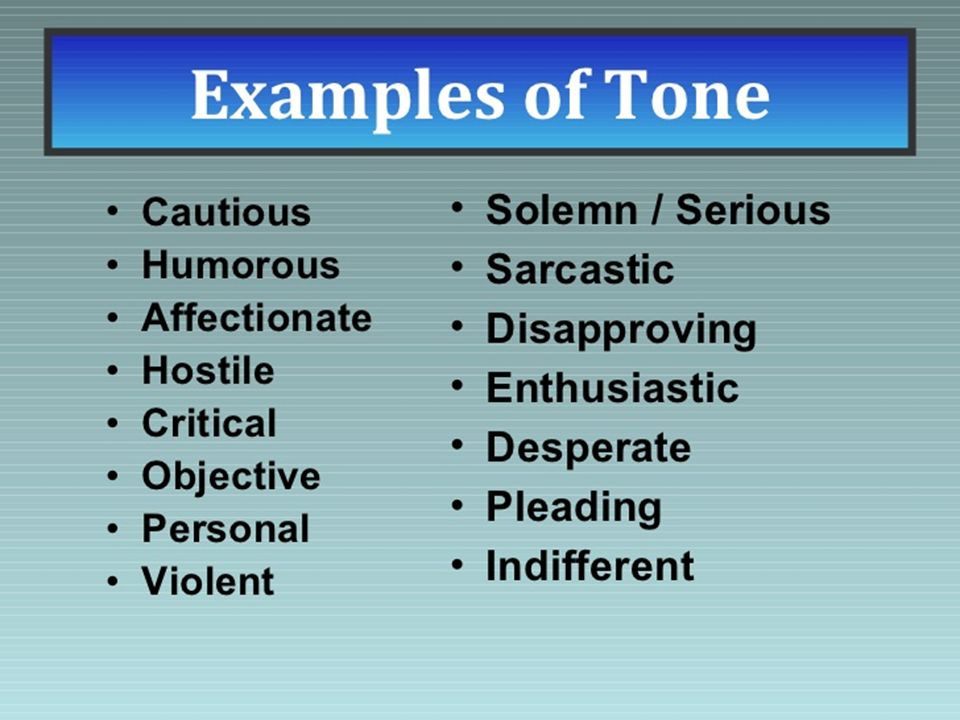 Types Of Essay Tones