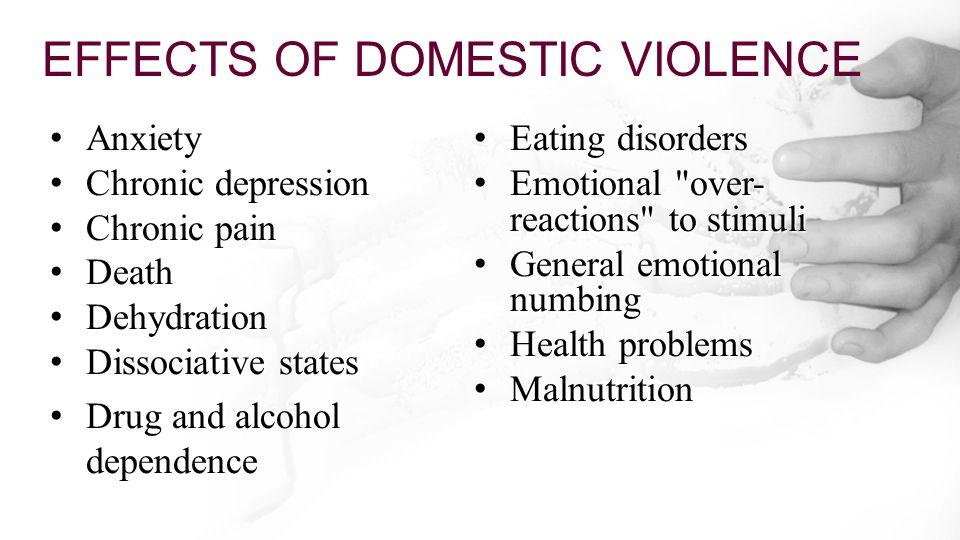 cause and effect of domestic violence essay