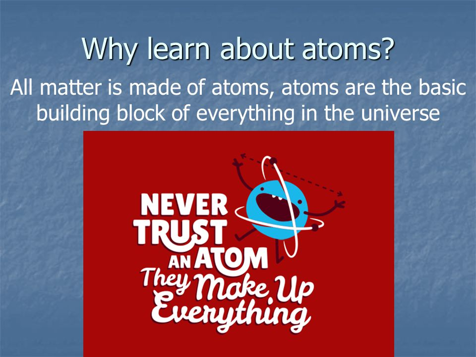 So what is an atom.