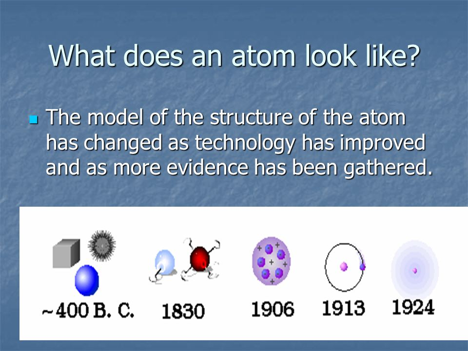 Why learn about atoms.