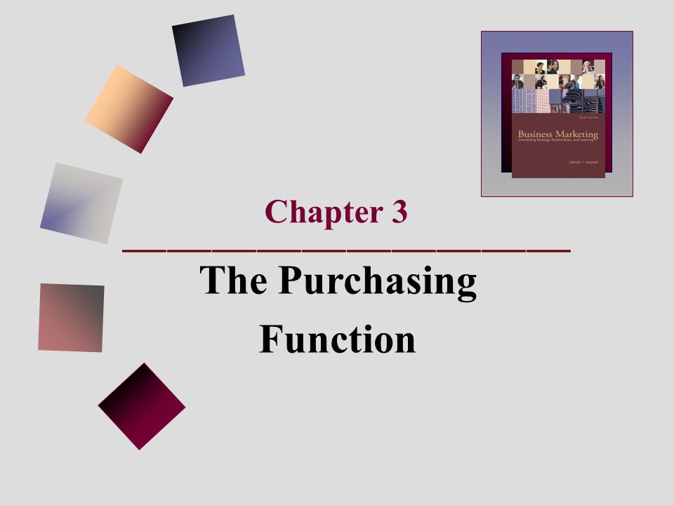 Chapter 3 The Purchasing Function