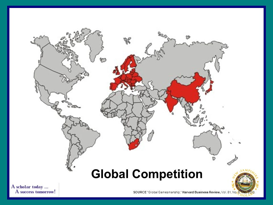 Global Competition SOURCE Global Gamesmanship, Harvard Business Review, Vol. 81, No. 5, May 2003.