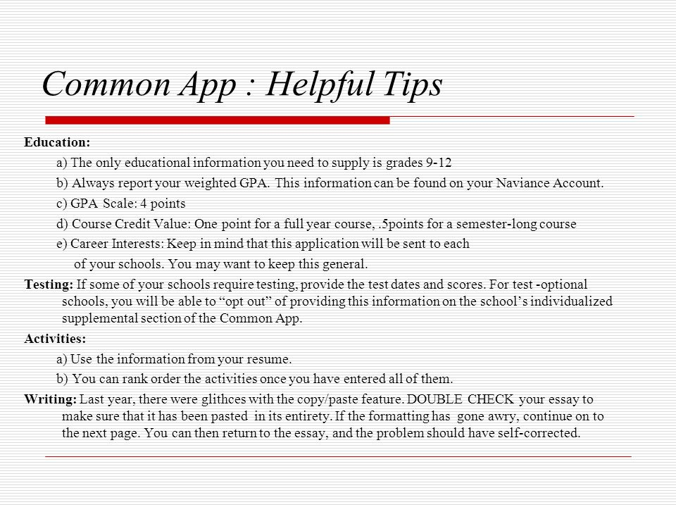 common application personal essay option 1 How to write a winning common application essay 2018-2019 common application essay the common 2018-2019 common application essay prompts 1  some students have a background, identity, interest, or talent that is so meaningful they believe their application would be incomplete without it.