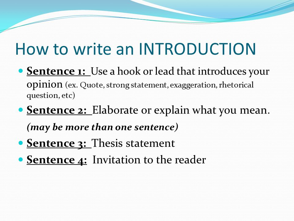 writing a good introduction to a persuasive essay