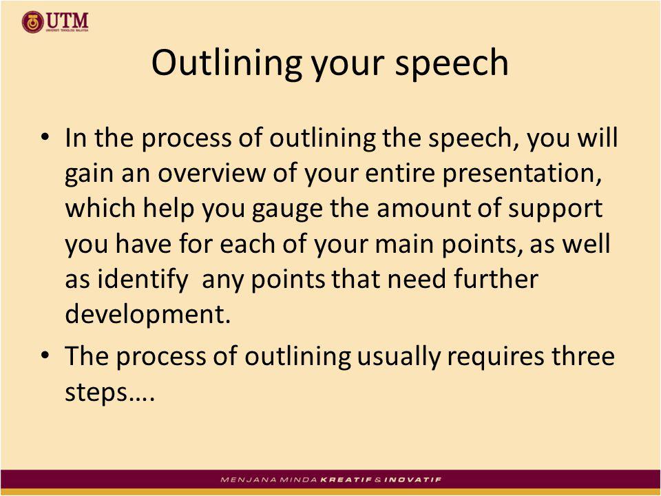 Help with process speech?