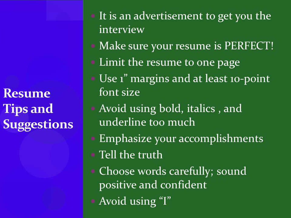 It is an advertisement to get you the interview Make sure your resume is PERFECT.