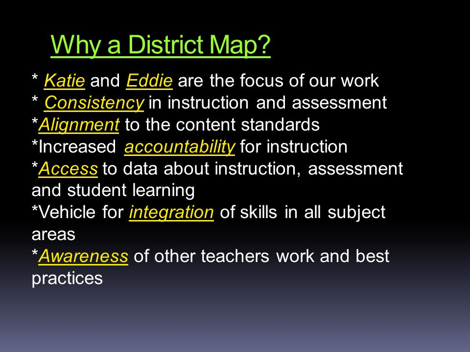 Why a District Map.