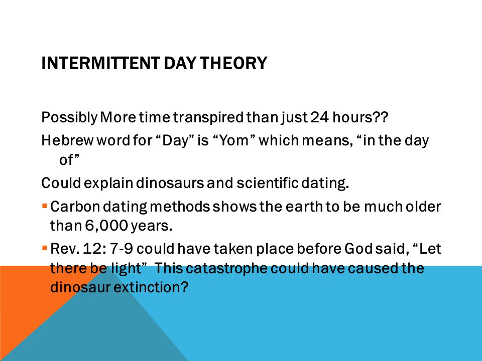 how does christianity explain carbon dating