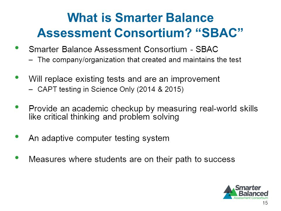 What is Smarter Balance Assessment Consortium.