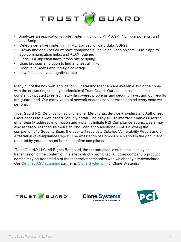 Trust guard pci certification service technical white paper trust 4 analyzes xflitez Images
