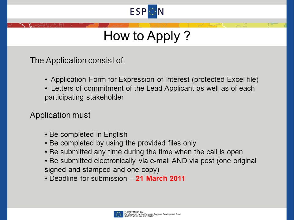 How to Apply .
