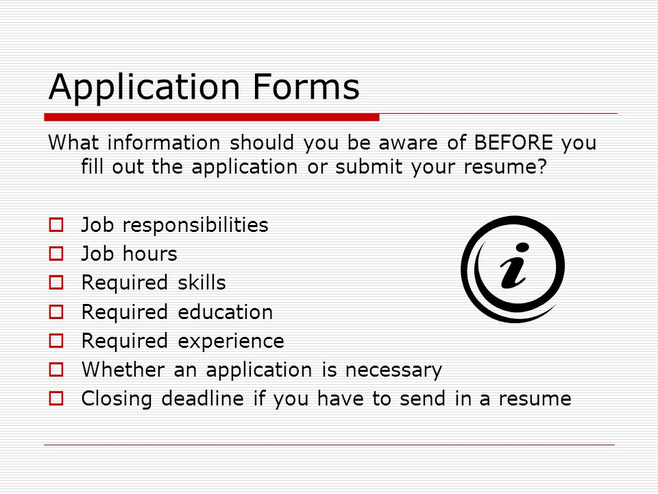 application forms has anyone ever filled out an employment