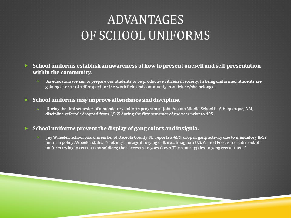 the advantage of school uniforms essay