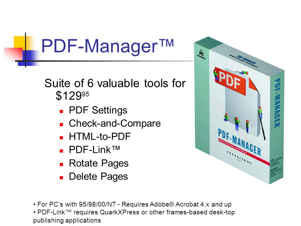PDF-Manager ™ / Six valuable tools to make a powerful difference ...