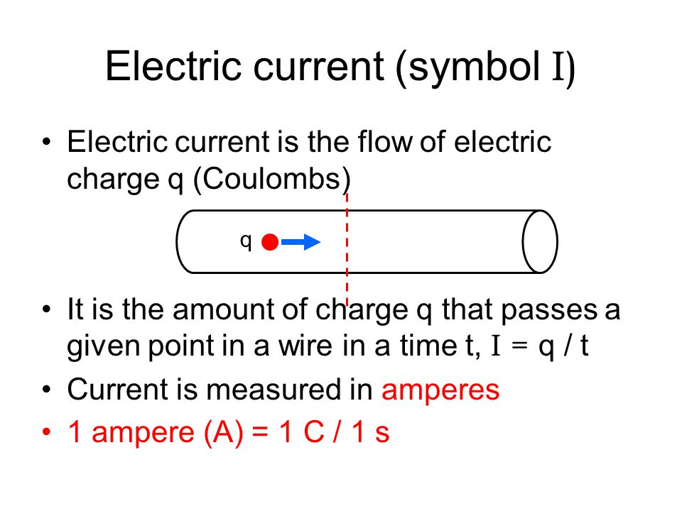 Current– flow of electric charge copper Duracell + If I connect a battery to the ends of the copper bar the electrons in the copper will be pulled toward the positive side of the battery and will flow around and around.