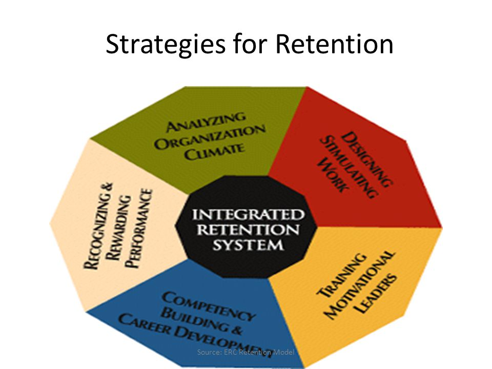 Strategies for Retention Source: ERC Retention Model