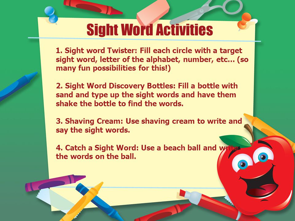 Sight Word Activities 1.