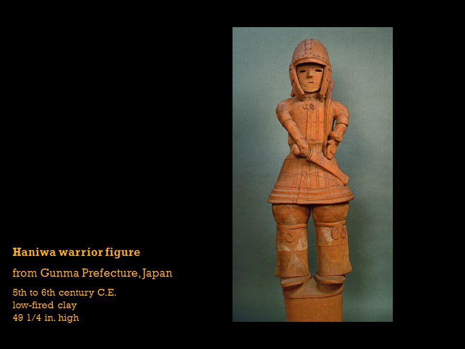 Haniwa warrior figure from Gunma Prefecture, Japan 5th to 6th century C.E.