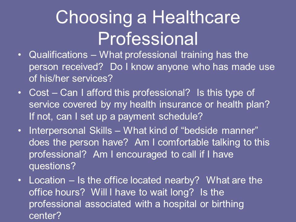 healthcare qualifications