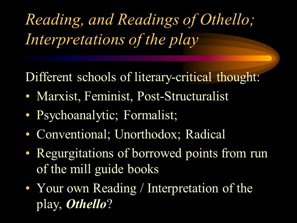 Othello Essay Topics