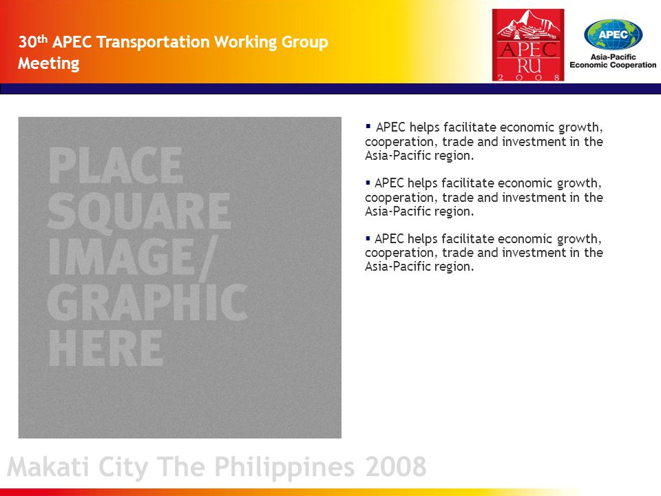  APEC helps facilitate economic growth, cooperation, trade and investment in the Asia-Pacific region.
