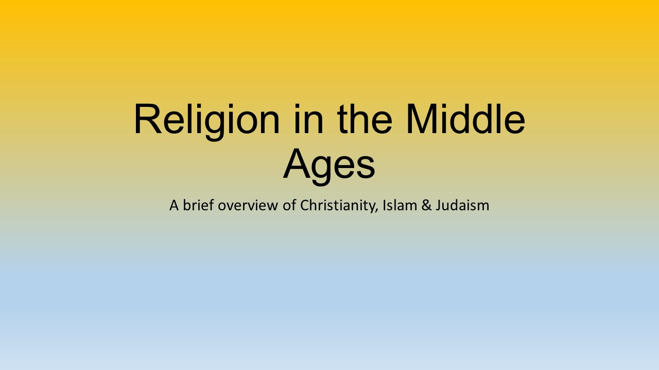 an overview of islams acceptance of judaism and christianity The fact that for many centuries jewish philosophy was influenced mainly by muslim thought only divine office (1944) j parkes, judaism and christianity.