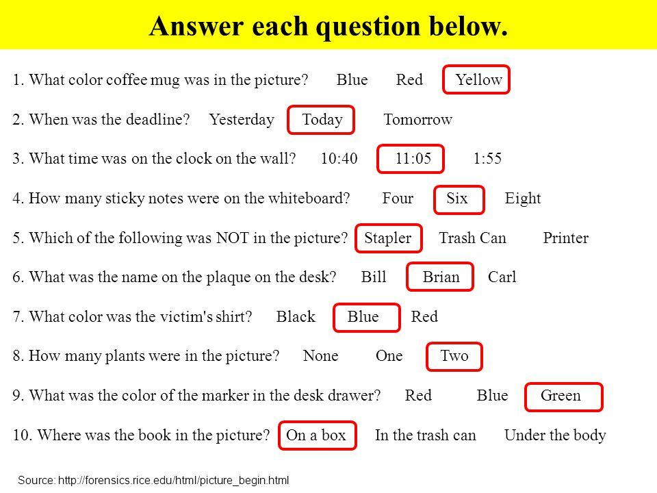 CSI Web Adventures (worksheet Case #2)