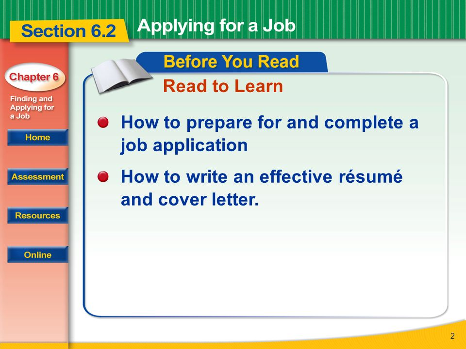2 read to learn how to prepare for and complete a job application how to write an effective rsum and cover letter