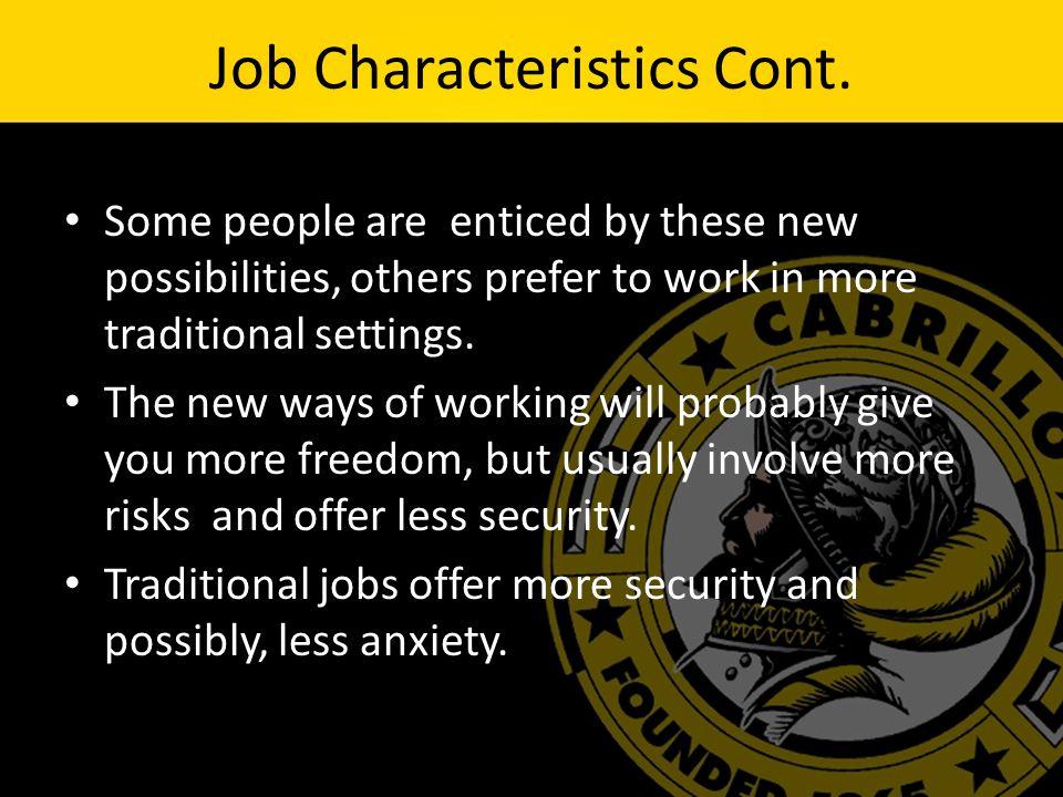 describe ideal job