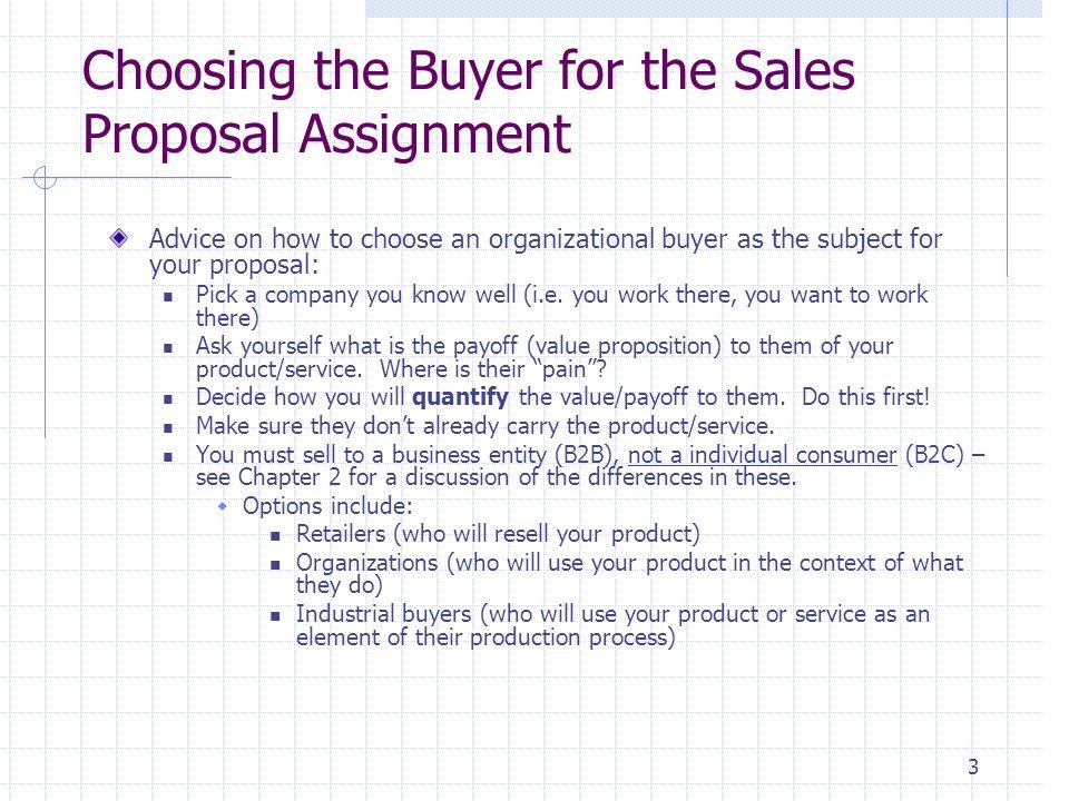 1 Sales Proposal Assignment Handbook Dear Sales Student This