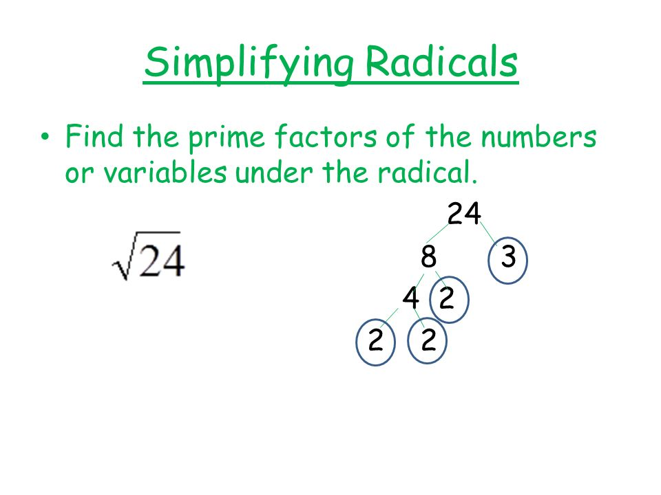 Simplifying Radicals Worksheet Square Root Of 24 Stay At Hand. Simplifying Radicals Worksheet Square Root Of 24 Kidz Activities. Worksheet. Simplifying Radicals Of Index 2 Worksheet At Clickcart.co