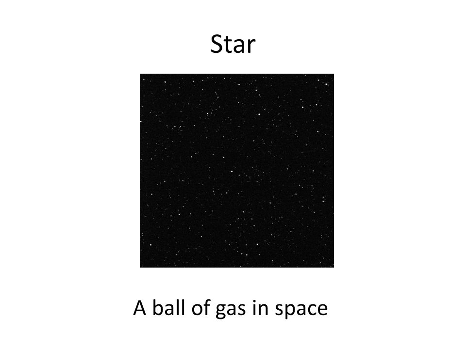 Star A ball of gas in space