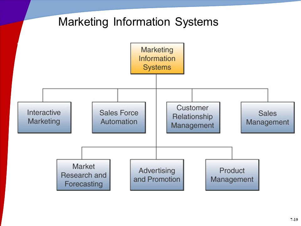 7-19 Marketing Information Systems