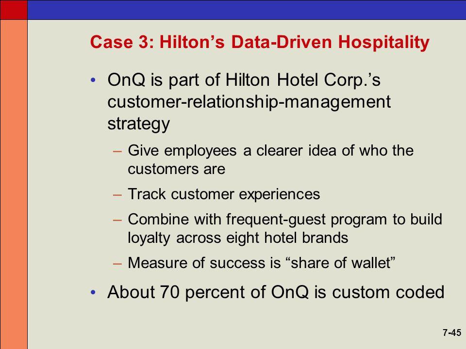 Hilton Hotels | Answer Key: Case Study